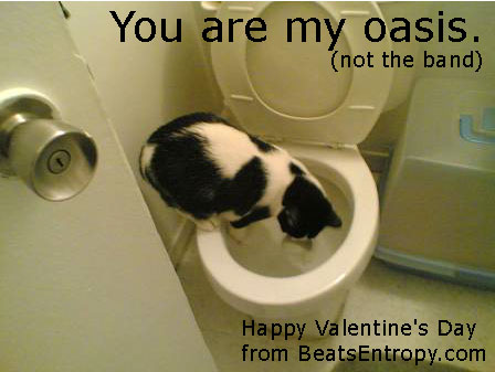 You are my Oasis (not the band) — Happy Valentine's Day
